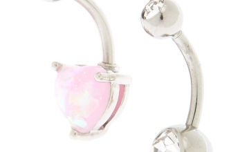 Go to Product: Silver 14G Shimmer Heart Belly Rings - 2 Pack