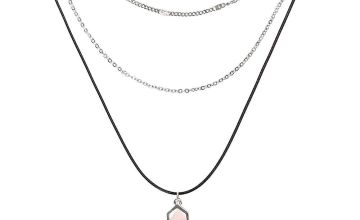 Go to Product: Healing Stone Multi Strand Necklace - Light Pink