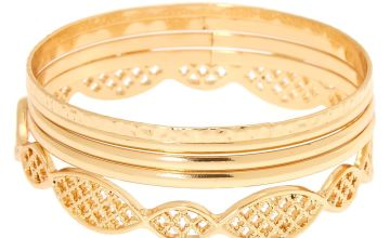 Go to Product: Gold Filigree Bangle Bracelets - 5 Pack