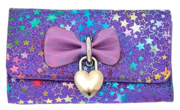 Go to Product: Holographic Bow Glitter Star Wallet - Purple