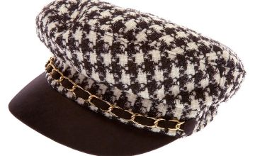 Go to Product: Houndstooth Captain Hat - Black