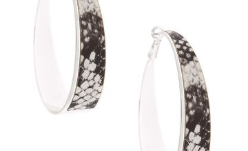 Go to Product: Silver 60MM Snake Skin Hoop Earrings