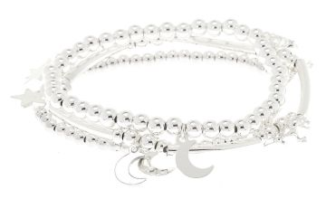 Go to Product: Silver Celestial Unicorn Stretch Bracelets - 3 Pack