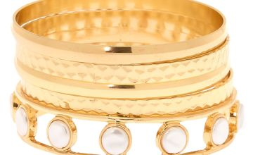 Go to Product: Gold Pearl Bangle Bracelets - 5 Pack