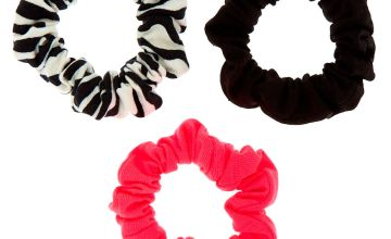 Go to Product: Neon Zebra Mini Hair Scrunchies - 3 Pack