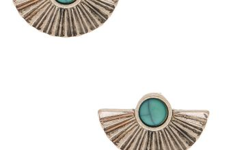 Go to Product: Silver Stone Fan Stud Earrings - Turquoise