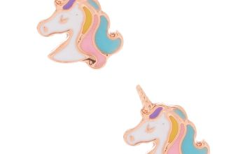 Go to Product: 18kt Rose Gold Plated Pastel Unicorn Stud Earrings