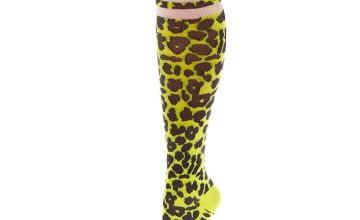 Go to Product: Neon Leopard Print Knee High Socks - Yellow