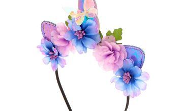 Go to Product: Unicorn Flower Cat Ears Headband - Purple