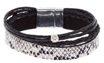 Go to Product: Snake Print Wrap Bracelet - Black