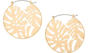 Go to Product: Gold 50MM Palm Leaf Hoop Earrings