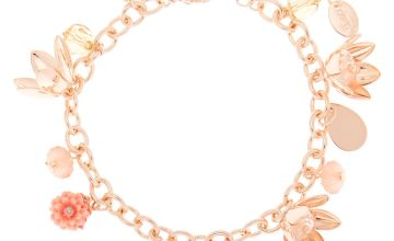 Go to Product: Rose Gold Floral Charm Bracelet - Pink
