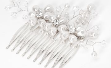 Go to Product: Triple Pearl Flower Hair Comb - White