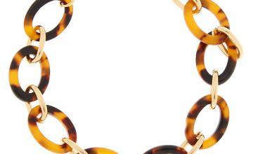 Go to Product: Gold Resin Tortoiseshell Chain Bracelet - Brown