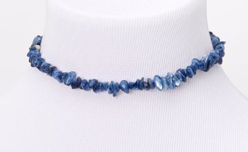 Go to Product: Puka Shell Choker Necklace - Blue