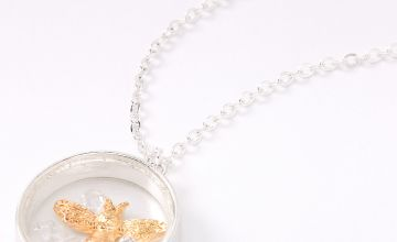 Go to Product: Silver Gold Bee Ring Pendant Necklace