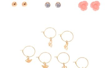 Go to Product: Gold Nature Lover Mixed Earrings - 6 Pack