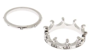 Go to Product: Silver Crown Rings - 2 Pack