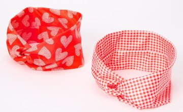 Go to Product: Valentine's Day Twisted Headwraps - Red, 2 Pack