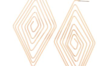 Go to Product: Rose Gold 80MM Diamond Spiral Hoop Earrings