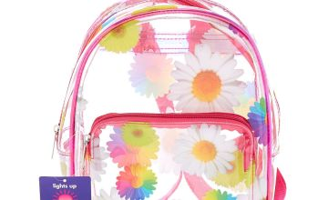 Go to Product: Rainbow Daisy Light Up Midi Backpack - Clear