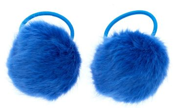 Go to Product: Pom Pom Hair Bobbles - Blue, 2 Pack