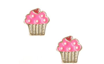 Go to Product: Cupcake Stud Earrings - Pink
