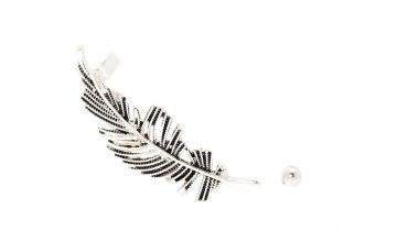 Go to Product: Silver Feather Mismatched Crawler Earring Set
