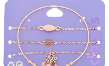 Go to Product: Rose Gold Delicate Statement Bracelets - 4 Pack