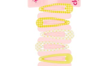 Go to Product: Claire's Club Gingham Snap Hair Clips - Yellow, 6 Pack