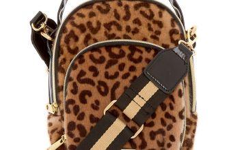 Go to Product: Faux Fur Leopard Messenger Crossbody Bag