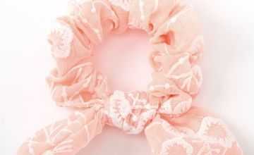 Go to Product: Small Crochet Knotted Bow Hair Scrunchie - Pink