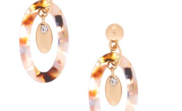 "Go to Product: 1.5"" Resin Painted Oval Drop Earrings"