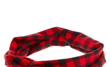 Go to Product: Buffalo Check Twisted Headwrap - Red