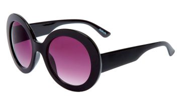 Go to Product: Oversized Round Mod Sunglasses - Black