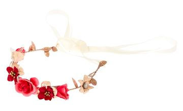 Go to Product: Rose Gold Flower Crown Tie Headwrap - Fuchsia