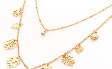 Go to Product: Gold Palm Leaf Multi Strand Necklace