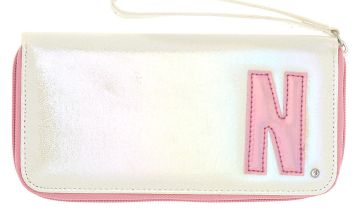 Go to Product: Pearlescent Initial Wristlet - N