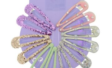 Go to Product: Pastel Pearl Glitter Hair Snap Clips - 12 Pack