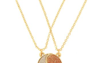 Go to Product: Gold Best Friends Yin Yang Glitter Pendant Necklaces - 2 Pack