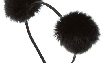 Go to Product: Pom Pom Ears Headband - Black