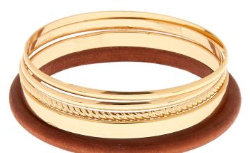Go to Product: Gold Wooden Bangle Bracelets - 5 Pack