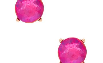 Go to Product: Gold 10MM Round Stone Stud Earrings - Fuchsia