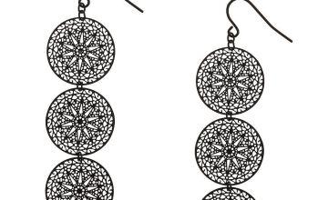 Go to Product: Black Filigree Circle Drop Earrings