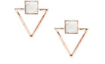 Go to Product: Rose Gold & Marble Triangle Stud Earrings