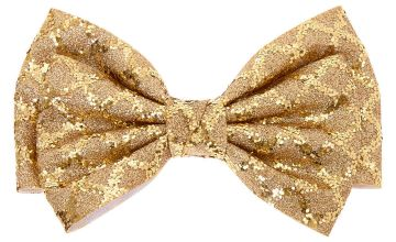 Go to Product: Christmas Glitter Hair Bow Clip - Gold