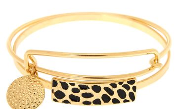 Go to Product: Gold Cheetah Bangle Bracelets - 2 Pack