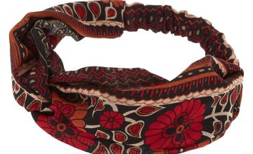 Go to Product: Aztec Floral Twisted Headwrap - Red