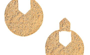 "Go to Product: Gold 2.5"" Textured Drop Earrings"