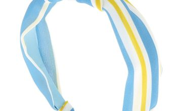 Go to Product: Striped Twisted Knot Headband - Blue